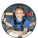 CARES Child Aviation  Restraint Harness  ·CARES rental attaches to the airplane seat & keeps toddlers safe  · Ages 1+; 25-44lbs  ·Fits in carry on bag; weighs 1lb  ·Very easy to use
