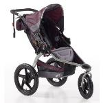 BOB Revolution SE Single All Terrain Jogger Stroller  ·All terrain BOB stroller rental – w/ swiveling or fixed front wheels  ·Perfect for infants & toddlers  ·Can accommodate 1 car seat  ·5 Point Safety Harness  ·Has large canopy for protection from sun, backrests, footrests, recline, cargo storage