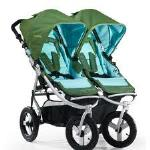 Bumbleride Indie Twin Double Premium All Terrain Stroller  •Side by side double all terrain stroller rental – fits through standard doorway  •Perfect for infants & toddlers  •Can accommodate 2 car seats  •5 Point Safety Harness  •Swivel front wheels  •Has backrests, footrests, recline, cargo storage